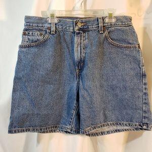 Levis VTG 80s sz 10 denim shorts red tab w/just R